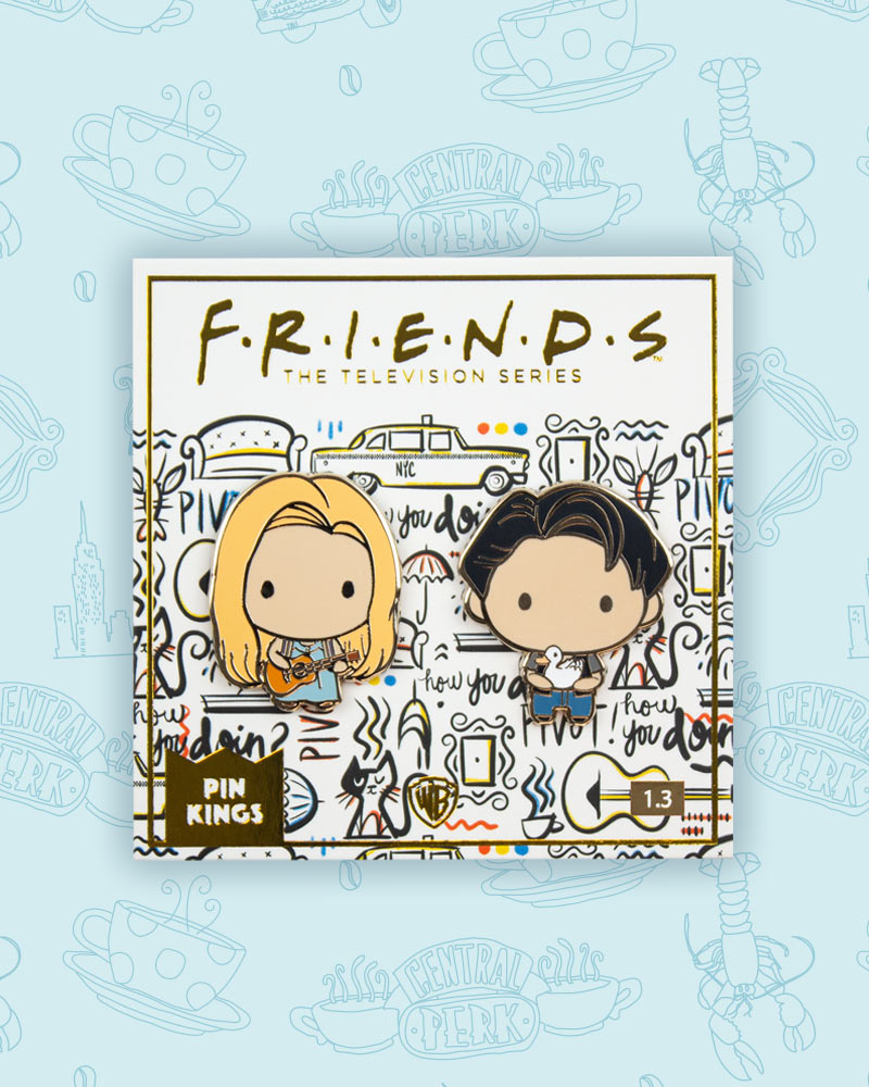 Pin Kings Friends Enamel Pin Badge Set 1.3 - Phoebe & Joey