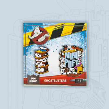 Pin Kings Ghostbusters Enamel Pin Badge Set 2.1 – Stay Puft S'mores & Mini Puft