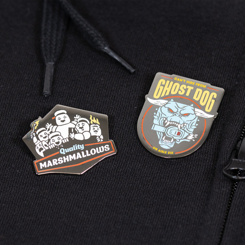 Pin Kings Ghostbusters Enamel Pin Badge Set 2.2 – Quality Marshmallows & Ghost Dog