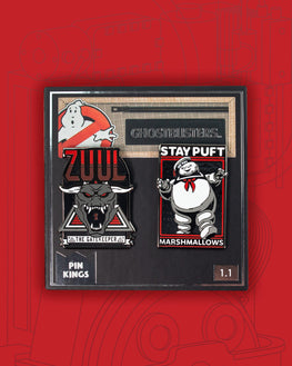 Pin Kings Ghostbusters Enamel Pin Badge Set 1.1 - Zuul & Marshmallow Man