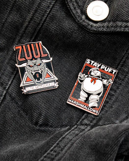 Pin Kings Ghostbusters Enamel Pin Badge Set 1.1 - Zuul & Marshmellow Man