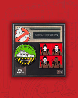 Pin Kings Ghostbusters Enamel Pin Badge Set 1.3 - Who You Gonna Call ? & Characters
