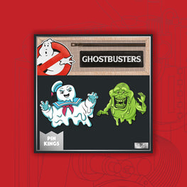 Pin Kings Ghostbusters Enamel Pin Badge Set 1.4 – Stay Puft and Slimer