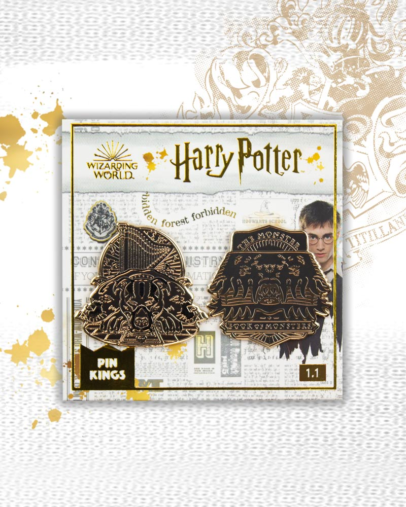 Pin Kings Harry Potter Enamel Pin Badge Set 1.1 - Book of Monsters & Fluffy