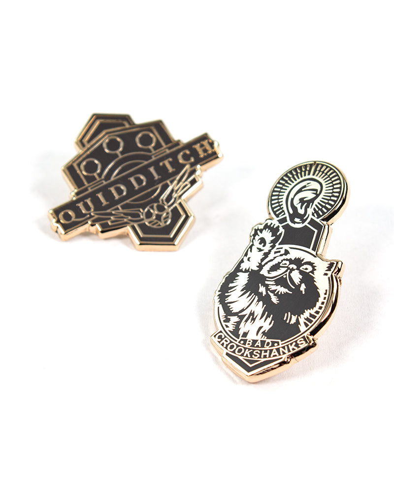 Pin Kings Harry Potter Enamel Pin Badge Set 1.2 - Quidditch & Crookshanks