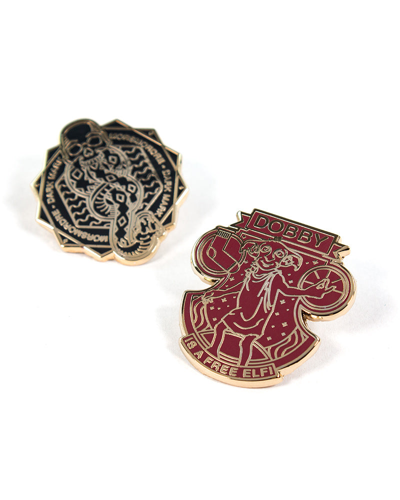 Pin Kings Harry Potter Enamel Pin Badge Set 1.3 - Dark Mark & Dobby