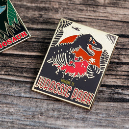 Pin Kings Jurassic Park Enamel Badge Set 1.2