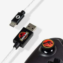 Official Jurassic Park LED Micro USB Cable & Thumb Grips (PS4 and Xbox One)