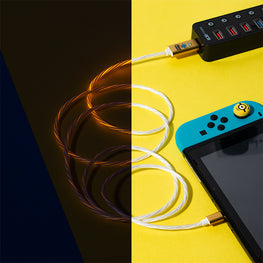 Official Minions LED USB C Cable & Thumb Grips (Nintendo Switch)