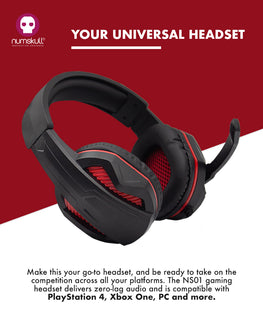 Numskull Multi-Format Gaming Headset for PS4/Xbox One/Nintendo Switch/PC/Mac/Xbox 360