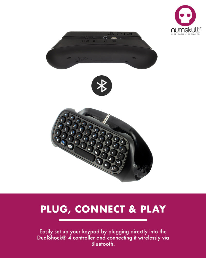 Numskull PlayStation 4 Bluetooth Wireless Mini Keyboard / Chatpad