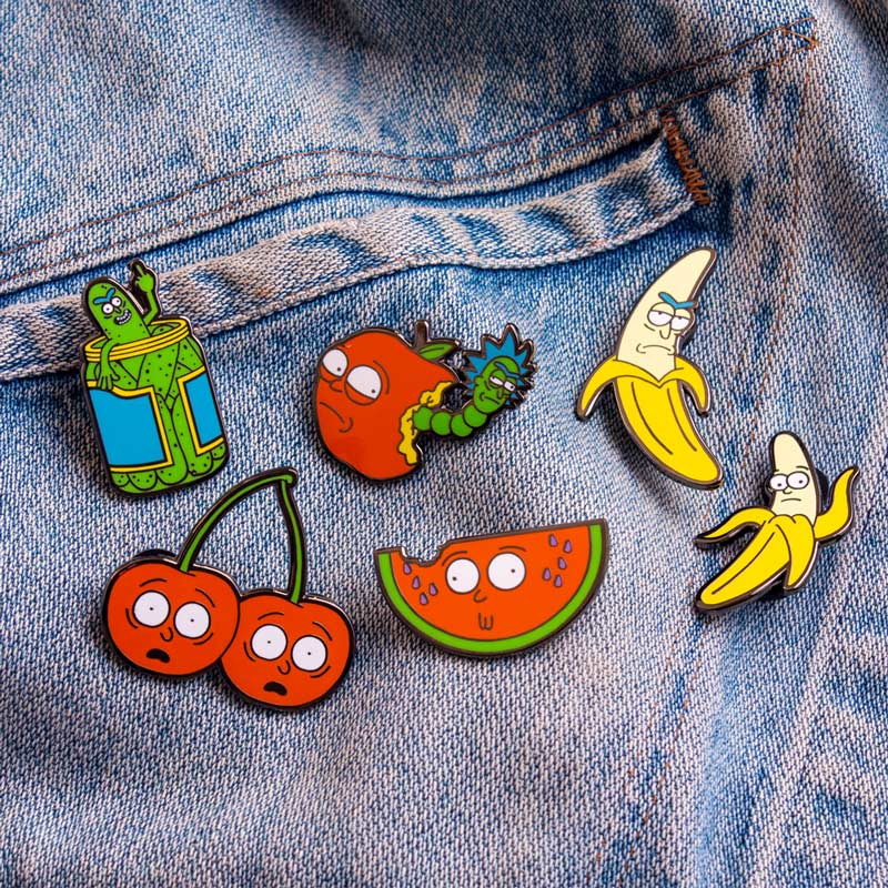 Pin Kings Rick and Morty Enamel Pin Badge Set 1.1 – Pickle Rick & Cherry Morty