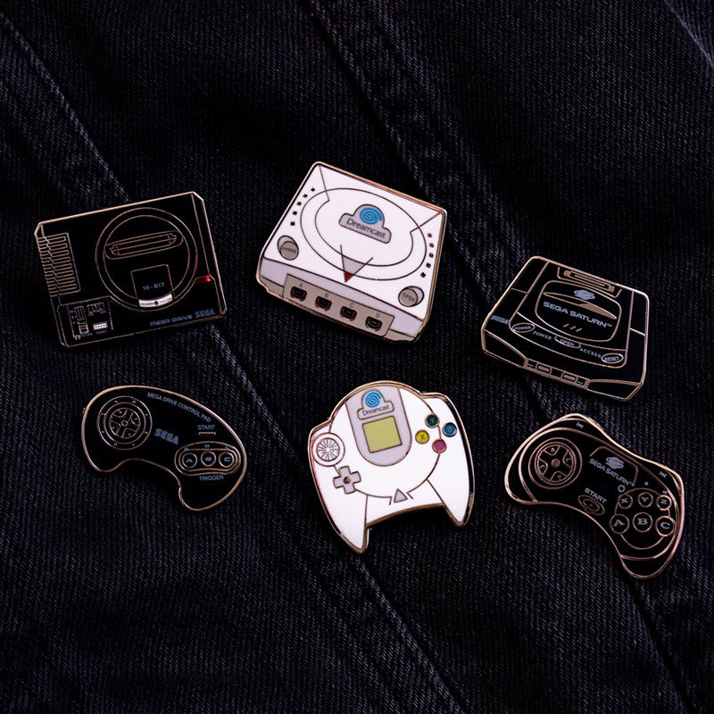 Pin Kings SEGA Console Enamel Pin Badge Set 1.1 – Mega Drive