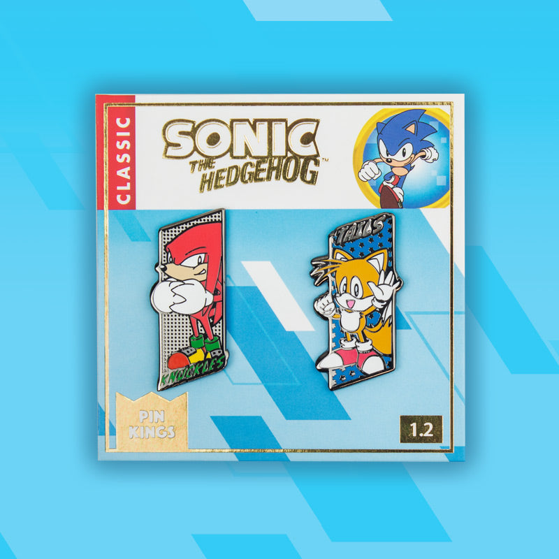 Pin Kings SEGA Sonic the Hedgehog Enamel Pin Badge Set 1.2 – Tails & Knuckles