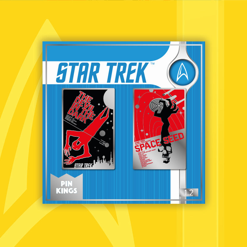 Pin Kings Star Trek Enamel Pin Badge Set 1.2 – The Devil in the Dark & Space Seed