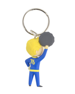 Official Fallout Vault Boy Barter Keyring / Keychain