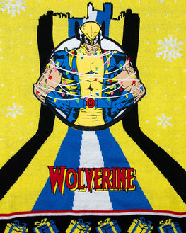 Official Marvel Wolverine Xmas Tree Lights Christmas Jumper / Ugly Sweater