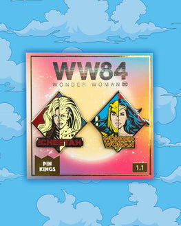 Pin Kings Wonder Woman '84  Enamel Pin Badge Set 1.1 - WW & Cheetah