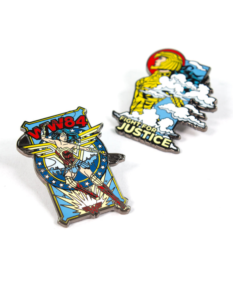 Pin Kings Wonder Woman '84  Enamel Pin Badge Set 1.2 - Fight For Justice