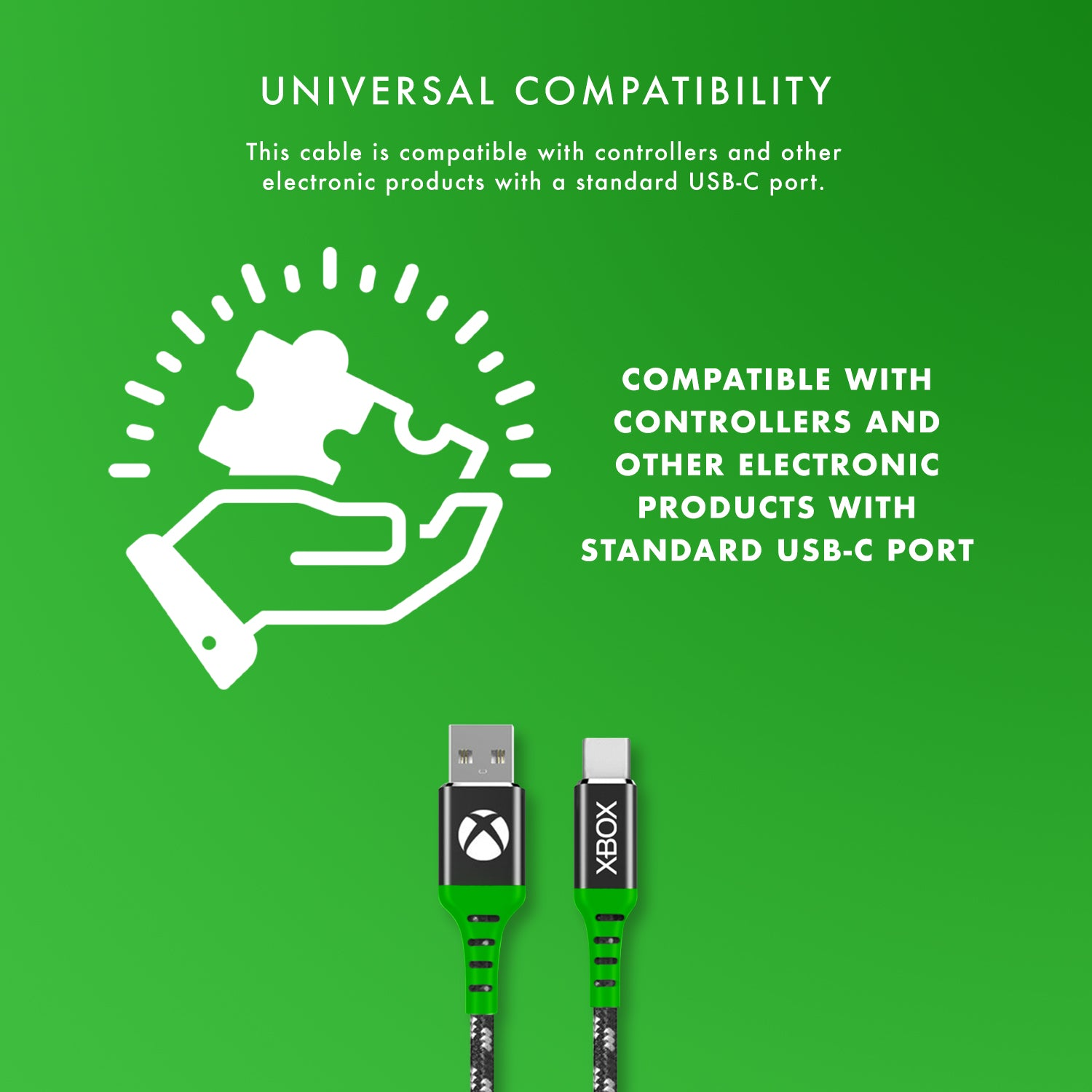 Official Xbox Series X and Series S Play and Charge USB C Charging Cable