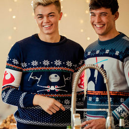 Official Star Wars X-Wing Vs. Tie Fighter Christmas Jumper / Ugly Sweater