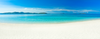 Vinyl wall print of white sand beach with vivid colours