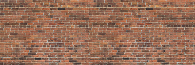 Brick wall print, any size realistic red and brown brick effect on textured vinyl