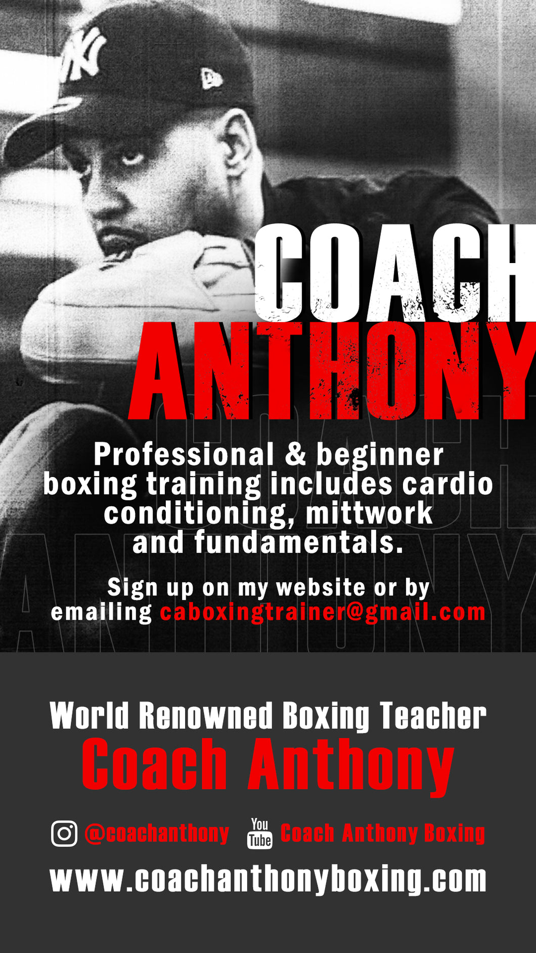Professional & Beginner Boxing Private Training!