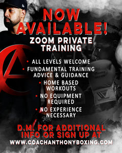 Zoom Private Training With Coach Anthony !