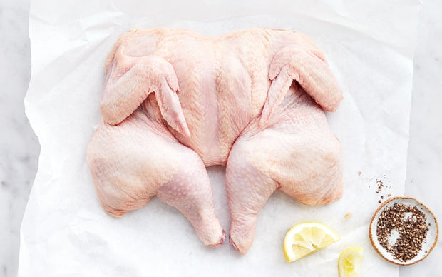 Pasture-raised Brined Spatchcock Chicken