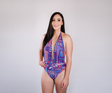 Purple Pattern One Piece