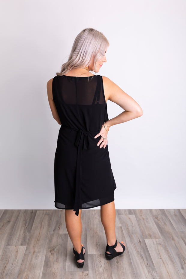 Elyse Dress S/L- Black
