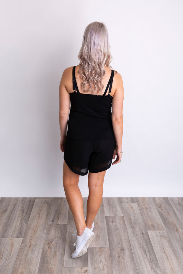 Everyday Singlet- Black