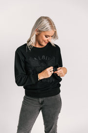 Breastfeeding friendly sweatshirt | NZ made breastfeeding clothing |  fashionable breastfeeding sweatshirt