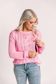 Breastfeeding friendly top | Breastfeeding clothing |  Breastfeeding Jumper