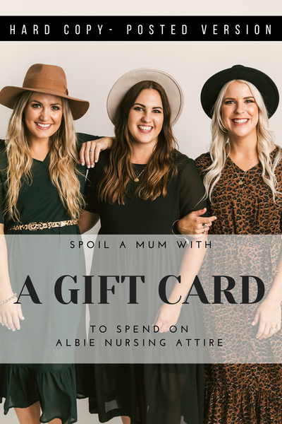Gift Card | Hard Copy Posted Version