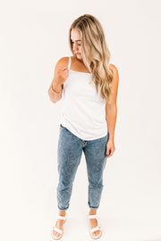 SALE- Everyday Singlet- White WAS $55