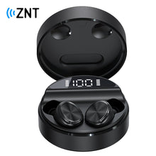 Load image into Gallery viewer, ZNT 10SoundBox Mini Christmas Gift Special Package Bluetooth 5.0 TWS Earbuds with Built-in Mic Black
