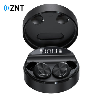 ZNT 10SoundBox Mini Christmas Gift Special Package Bluetooth 5.0 TWS Earbuds with Built-in Mic Black