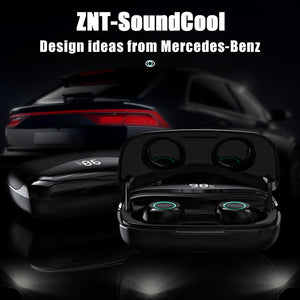 ZNT SoundCool Bluetooth Earphone Wireless Headset Large Capacity Hifi Sound Water Resistant