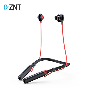 ZNT X37 Wireless Bluetooth Headset Sports Earphone Bluetooth 5.0 Double Moving Coils Game earbud