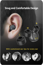 Load image into Gallery viewer, ZNT AirFits Truly Wireless Bluetooth Earphone Rechargeable Sports Earbuds-Black