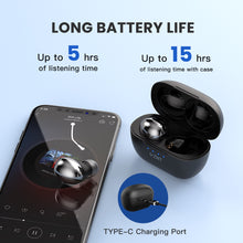 Load image into Gallery viewer, ZNT RockHifi True Wireless Bluetooth Earphone Mini Portable Bluetooth Earphone  V5.0 Wireless Earbud with Super HiFi Sound, Built-in Mic, Touch Control Function, and IPX5 Waterproof