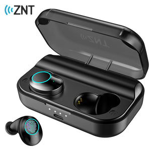ZNT SoundBass IPX7 Waterproof Hifi Deep Bass Bluetooth 5.0 Wireless Touch Control Earphones