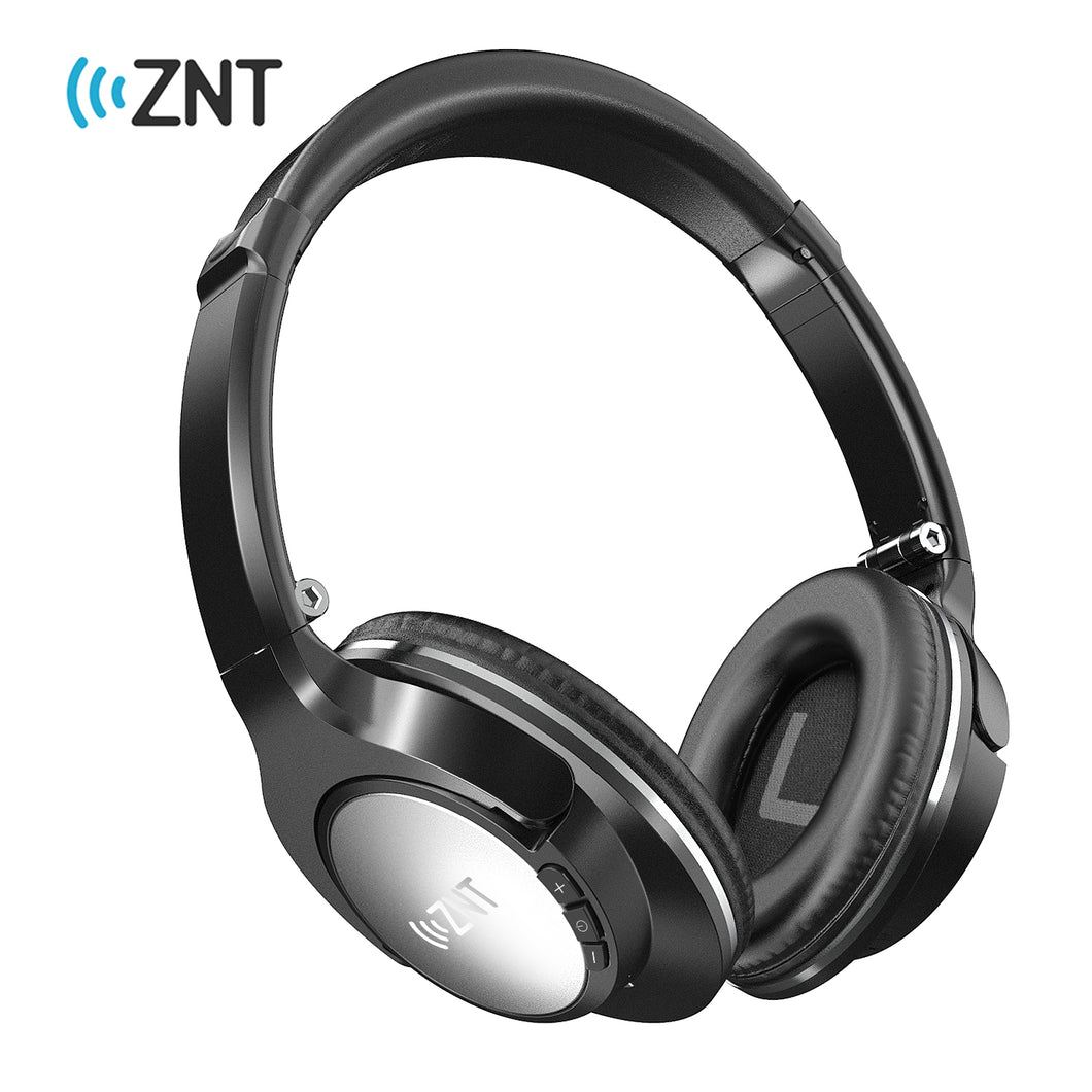 ZNT SoundFit Over Ear Wireless Bluetooth Headphone Hifi Foldable Headset with Microphone