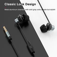 Load image into Gallery viewer, ZNT R620 HIFI Sound Metal Driver Mini Earbud Sport Earphone with Microphone