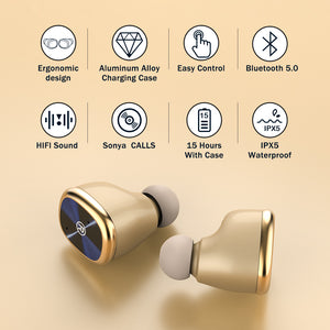ZNT D08-G Bluetooth 5.0 Wireless Earphone True Wireless Earpiece Mini Earbuds