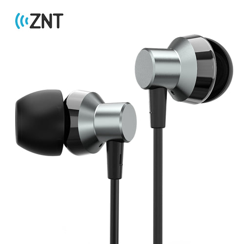 ZNT R620 HIFI Sound Metal Driver Mini Earbud Sport Earphone with Microphone