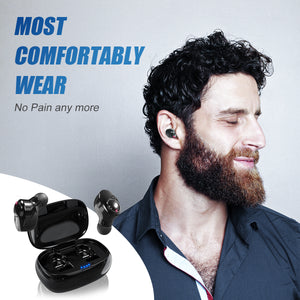 ZNT FireFit Smallest Bluetooth 5.0 Wireless TWS Hifi Earphone For iPhone/Android