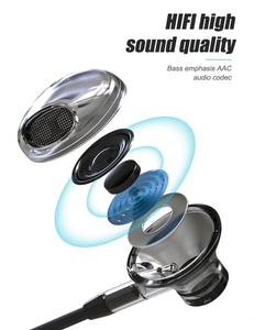 ZNT R669-A Half in-Ear Stereo HIFI Sound Quality TPE Wired No Ear Pain Earphone